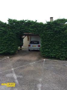 зеленый гараж